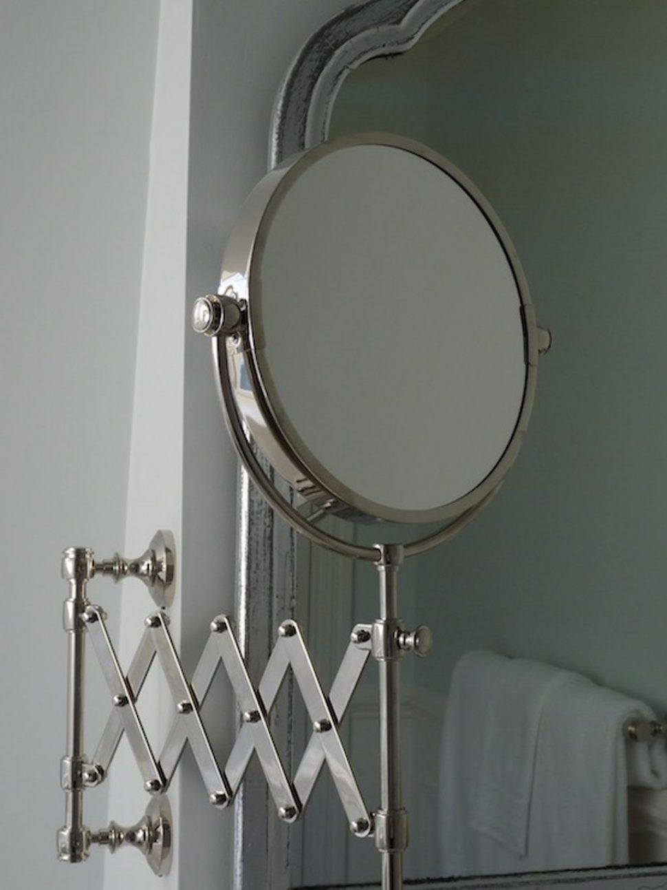 Bathroom Cabinets : Wall Mounted Magnifying Mirrors For Bathrooms Intended For Bathroom Extension Mirrors (Image 12 of 20)