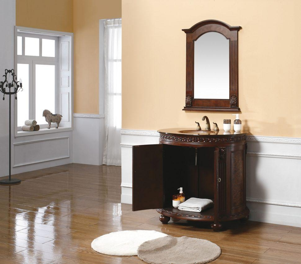 Bathroom Cabinets : White Wood Mirror Distressed Mirror Timber Inside Timber Mirrors (View 14 of 20)