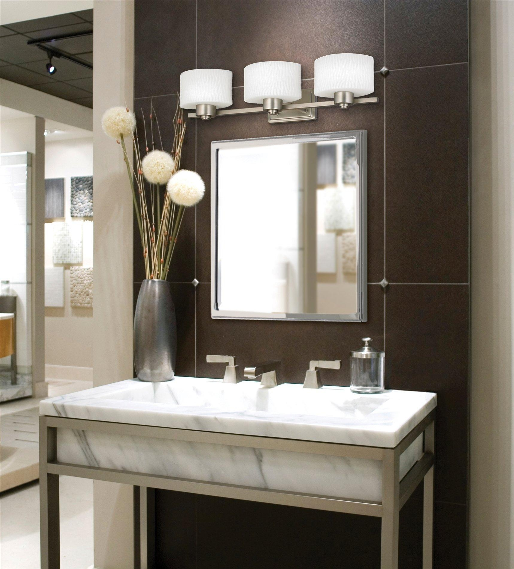 Bathroom Design : Fabulous Long Vanity Mirror Corner Bathroom Pertaining To Small Bathroom Vanity Mirrors (Image 8 of 20)