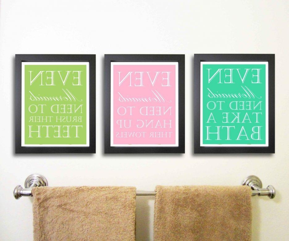 Bathroom Design : Marvelous Cool Latest Diy Bathroom Wall Hangings Intended For Bathroom Wall Hangings (Image 2 of 20)