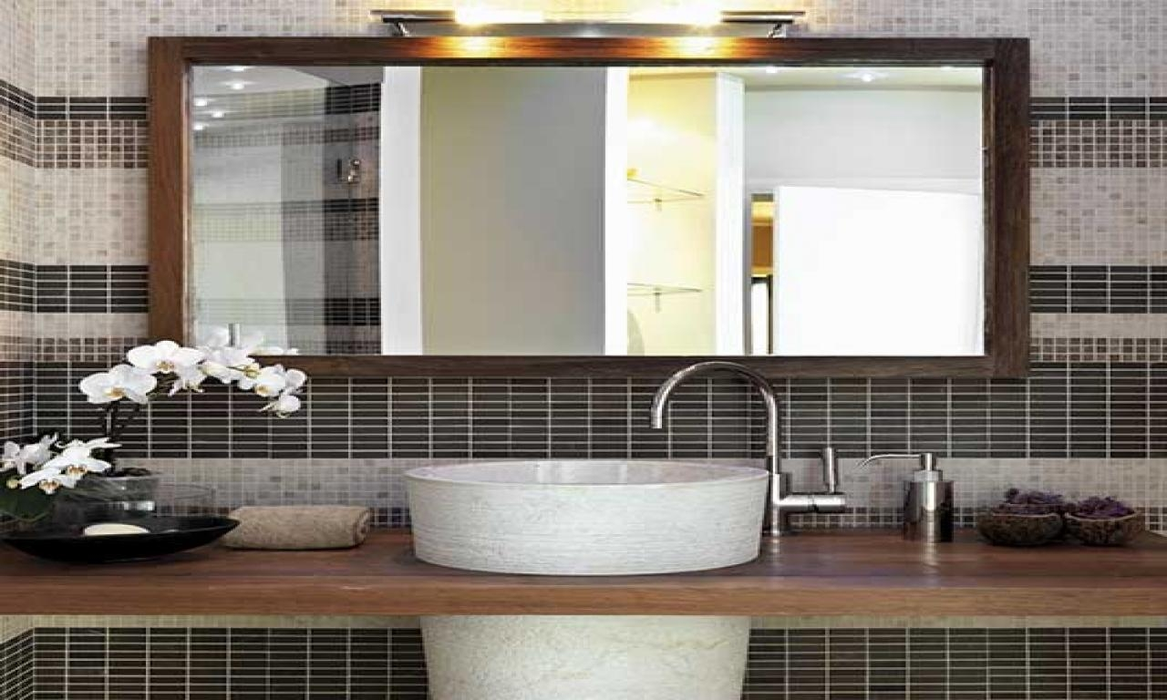Bathroom: Elegant Bathroom Decor With Large Framed Bathroom With Regard To Safety Mirrors For Bathrooms (Photo 20 of 20)