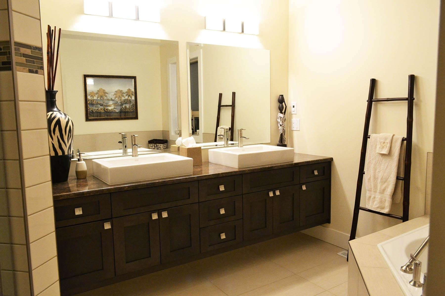 Bathroom : Extraordinary Double Vanity Bathroom Layout Double Pertaining To Small Bathroom Vanity Mirrors (View 9 of 20)