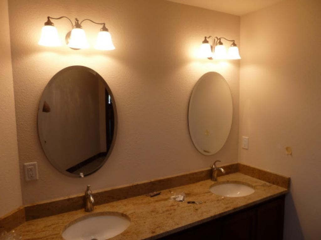 Bathroom Ideas: Frameless Cheap Oval Bathroom Mirrors Under Two Intended For Oval Bath Mirrors (Image 3 of 20)