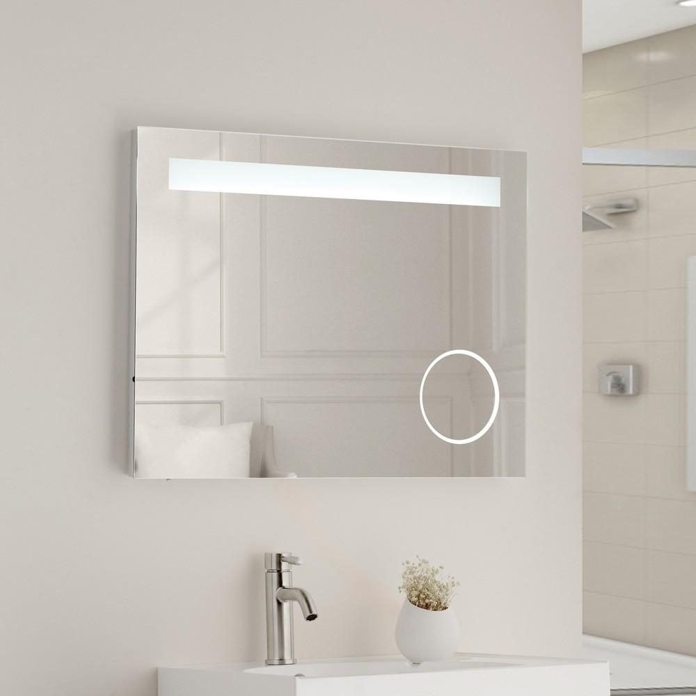 Bathroom : Led Bathroom Mirror 25 Vanity Mirror With Led Lights 14 Regarding Bathroom Mirrors With Led Lights (Image 4 of 20)