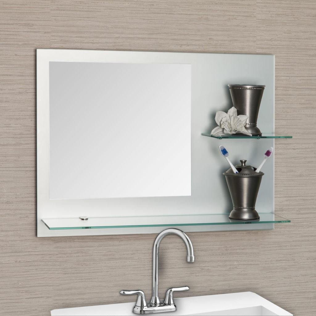 Bathroom: Light Up Your Home With Frameless Beveled Mirror With Regard To Frameless Beveled Bathroom Mirrors (Image 6 of 20)