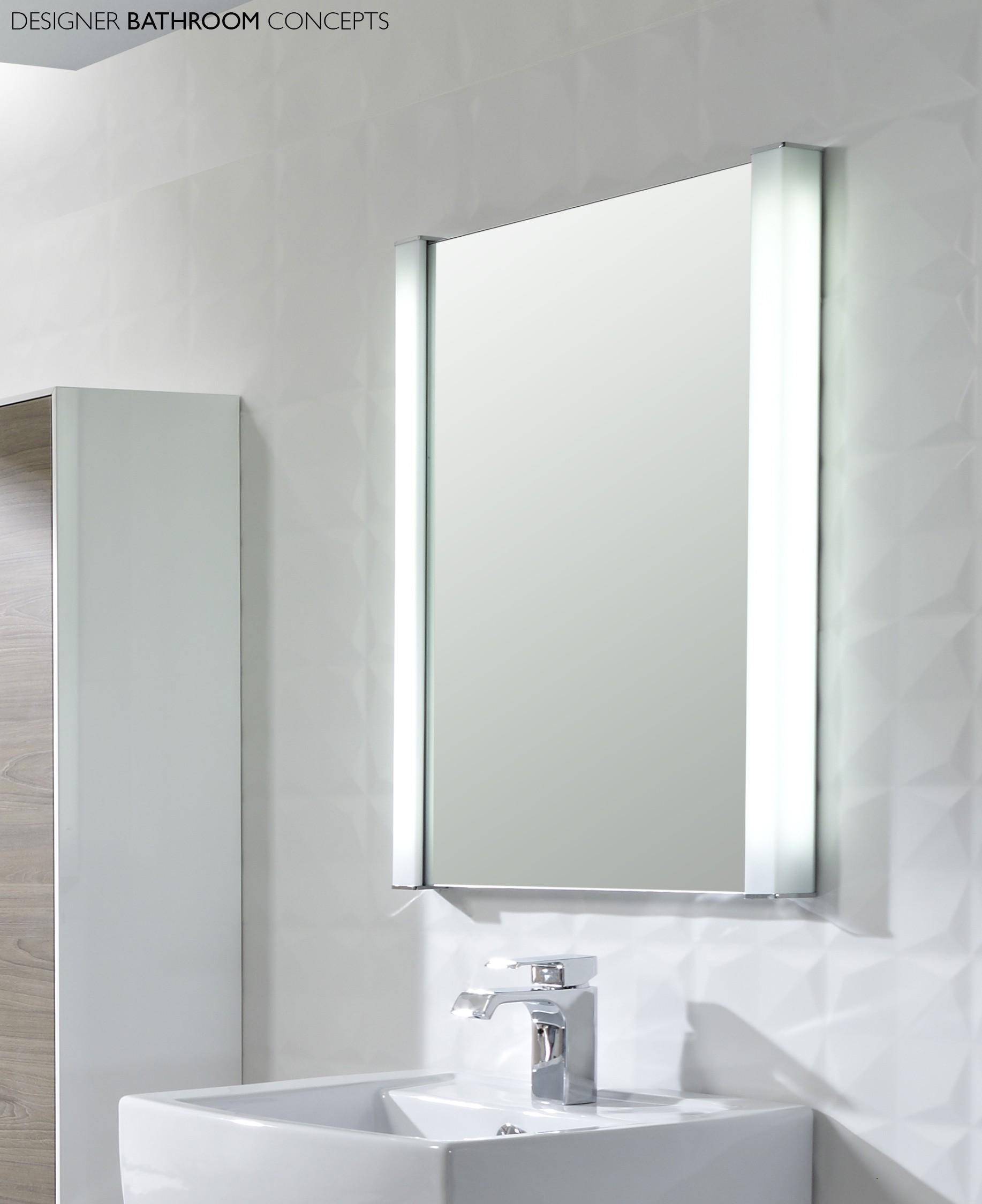 Bathroom : Lighted Bathroom Mirror 32 Wall Mounted Lighted Intended For Bathroom Mirrors With Led Lights (Image 6 of 20)
