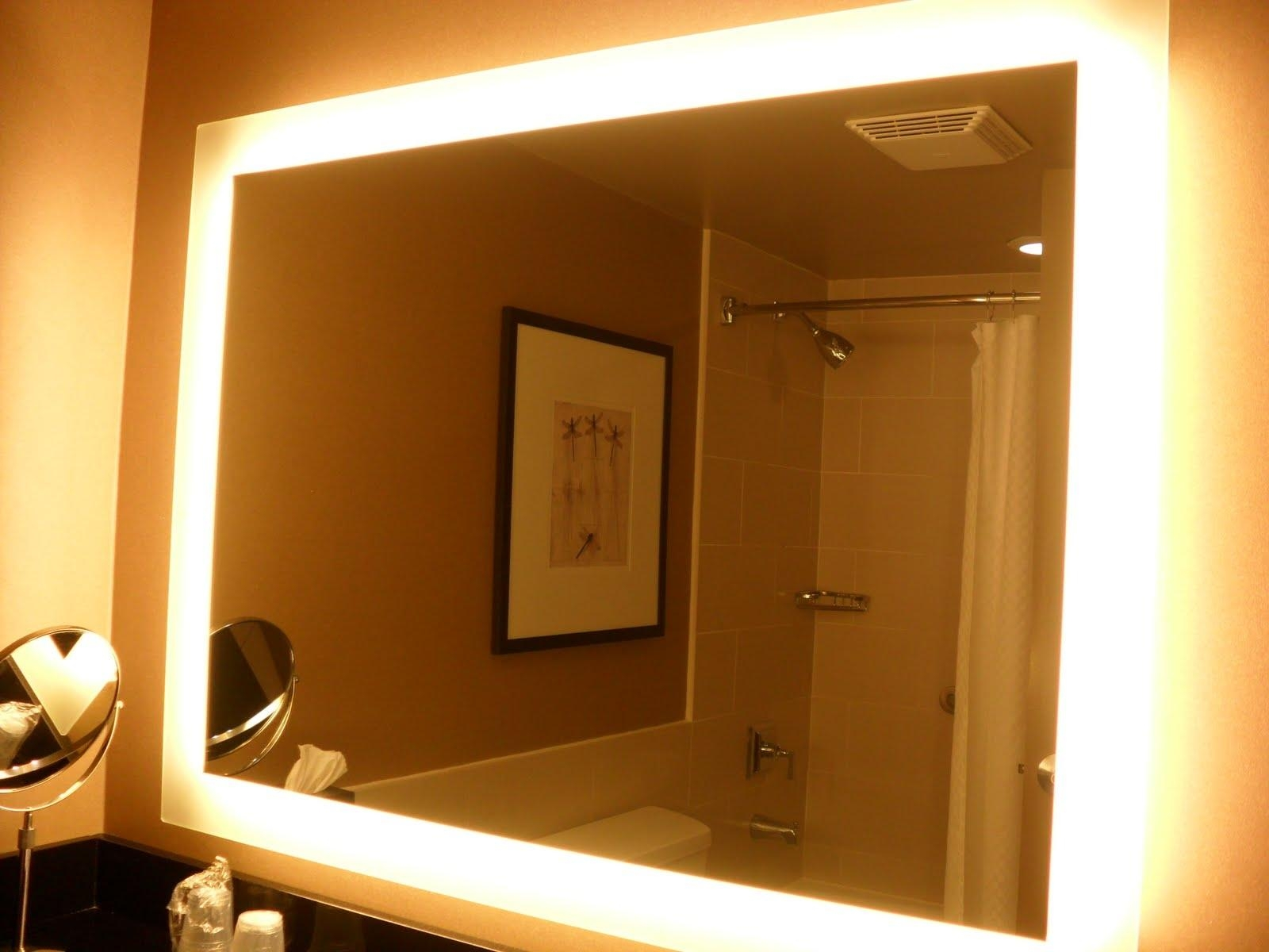 Bathroom: Lighted Bathroom Mirrors | Bathroom Vanity Mirror Lights Pertaining To Mirrors With Lights For Bathroom (View 17 of 20)