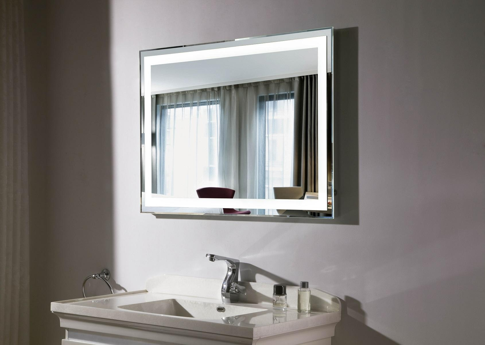 Bathroom: Lighted Makeup Mirror Vanity With Lighted Mirror Vanity In Lighted Vanity Mirrors For Bathroom (Image 5 of 20)