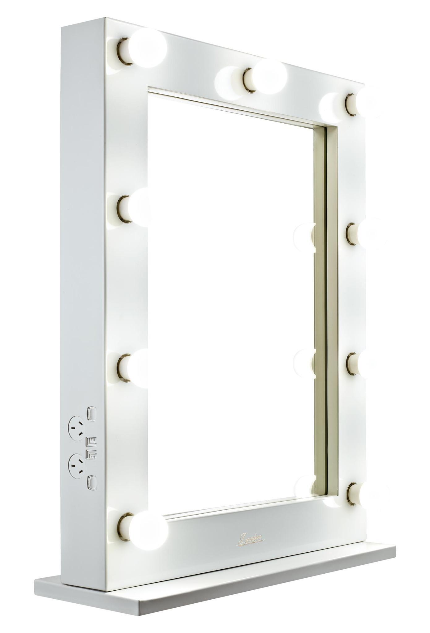 Bathroom: Lighted Makeup Mirror Vanity With Lighted Mirror Vanity Within Lit Makeup Mirrors (View 16 of 20)