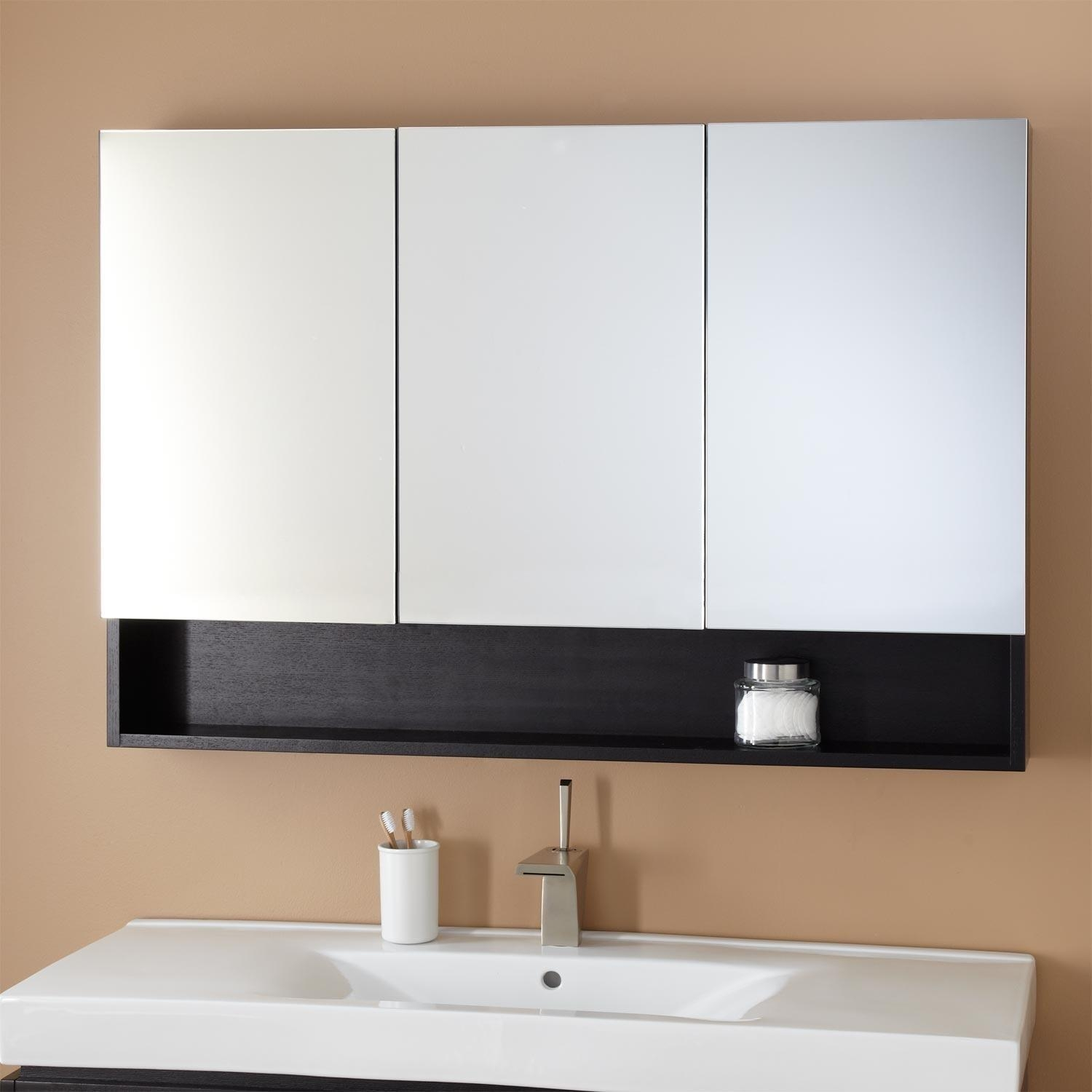 Bathroom Medicine Cabinets | Signature Hardware Regarding 3 Door Medicine Cabinets With Mirrors (Image 8 of 20)