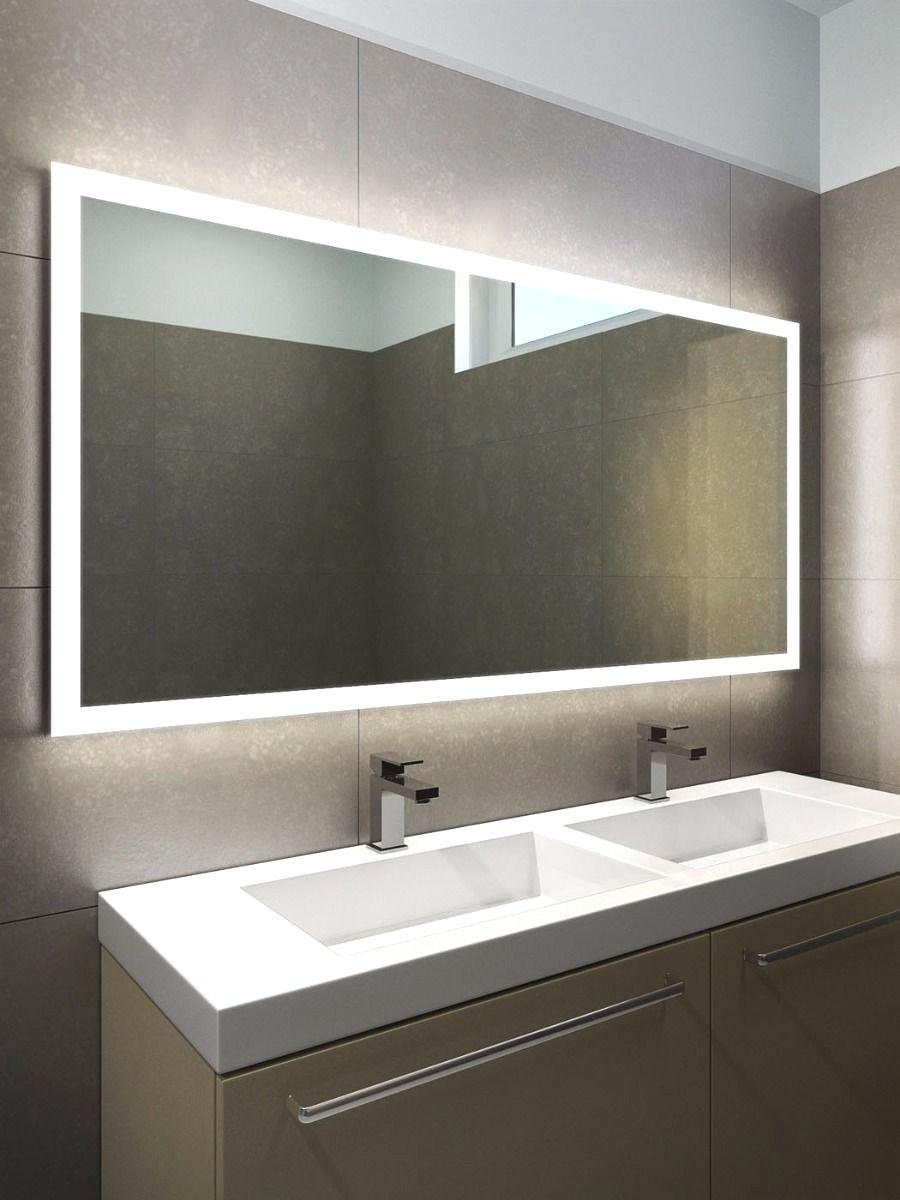 Bathroom Mirror Led Lights With Cabinets Halo Wide And 8 L Within Bathroom Mirrors With Led Lights (Image 12 of 20)