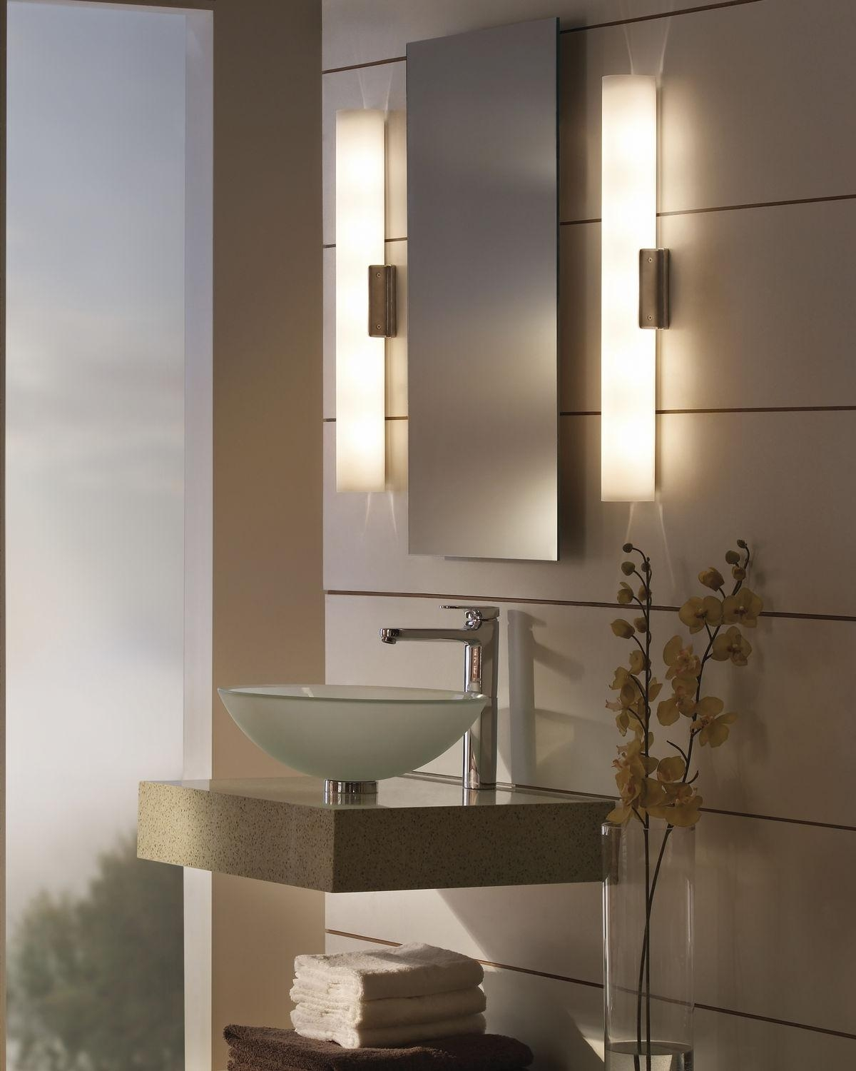 Bathroom Mirror Lights With Shelf • Bathroom Lighting With Regard To Bathroom Mirrors Lights (View 4 of 20)