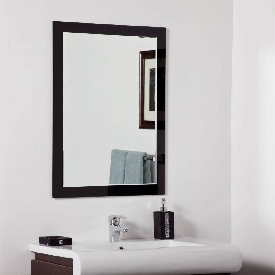Bathroom : Mirror On Mirror Bathroom Custom Framed Mirrors Brushed Inside Modern Framed Mirrors (Image 3 of 20)
