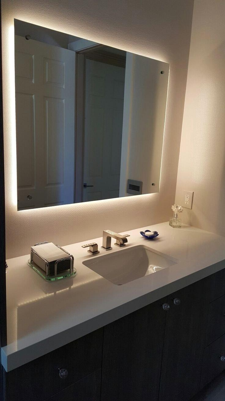 Bathroom Mirror With Led Lights And Best 25 Ideas On Pinterest Pertaining To Bathroom Mirrors With Led Lights (Image 13 of 20)