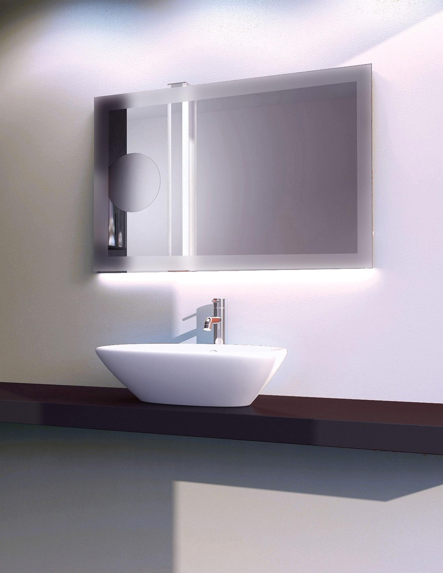 Bathroom Mirror With Led Lights And Mirrors Led Illuminated Light With Regard To Led Lit Bathroom Mirrors (Image 13 of 20)