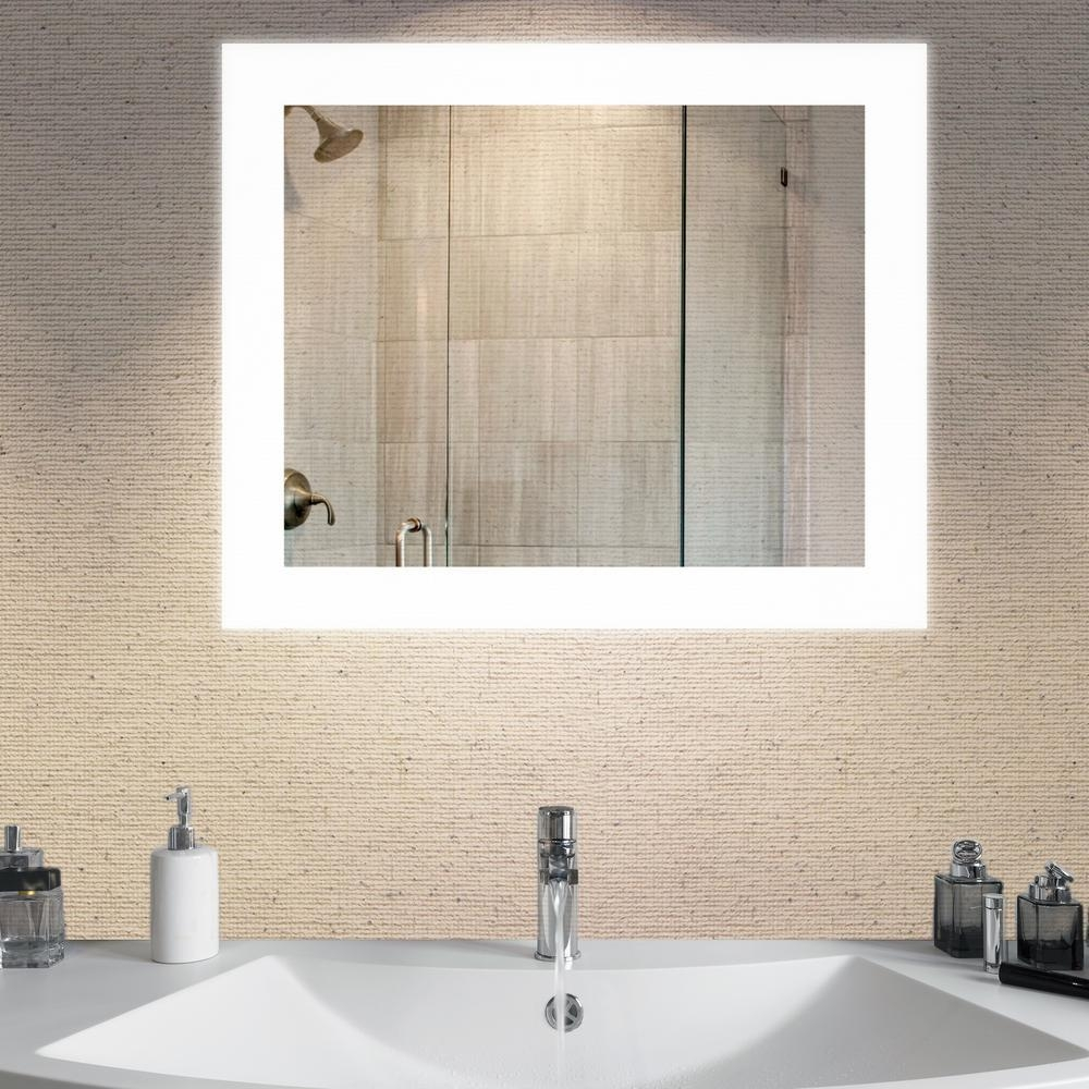Bathroom Mirrors – Bath – The Home Depot With Wall Mirrors For Bathrooms (View 9 of 20)
