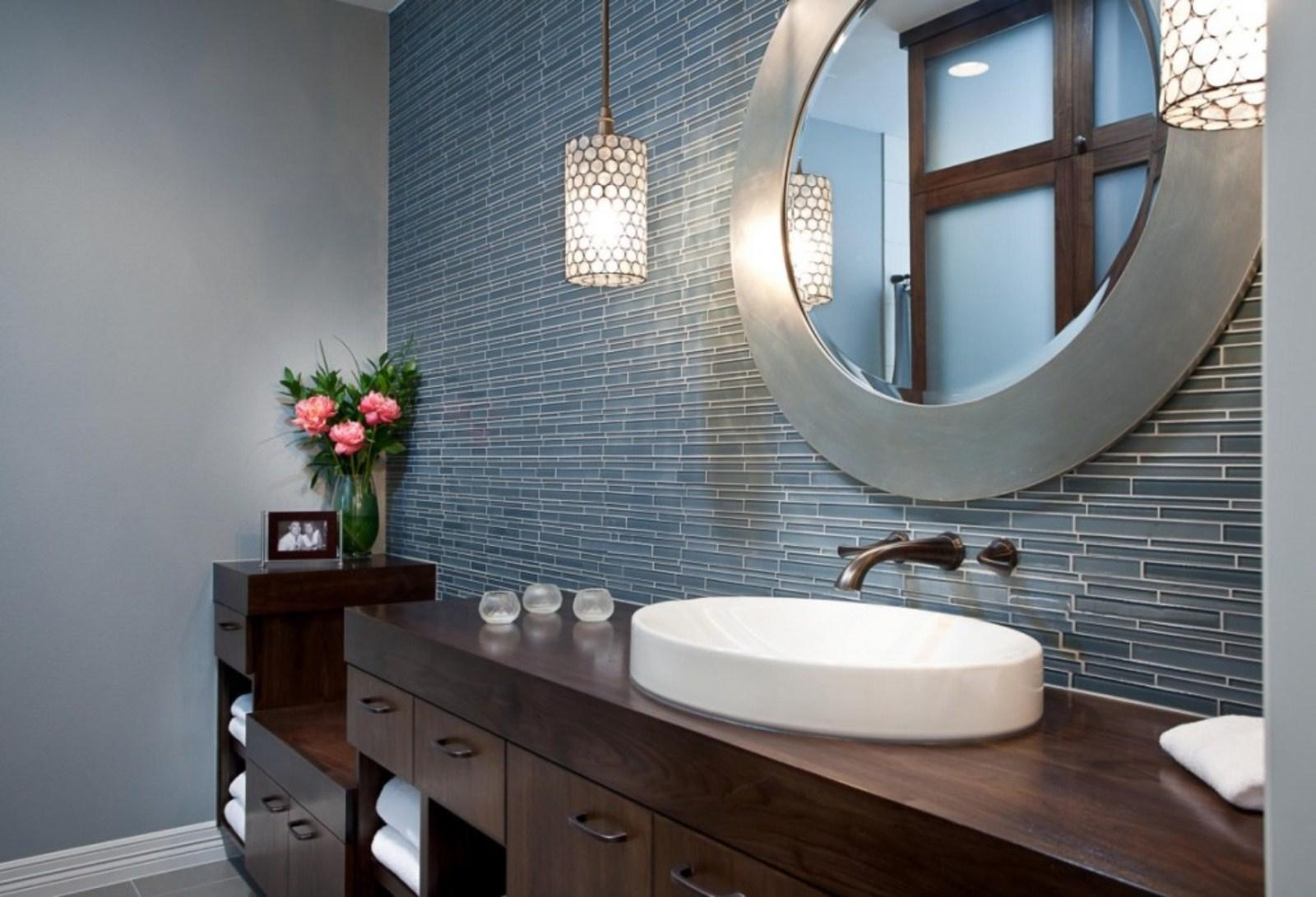 Bathroom Mirrors : Large Bathroom Wall Mirror Popular Home Design With Regard To Large Bathroom Wall Mirrors (Image 7 of 20)