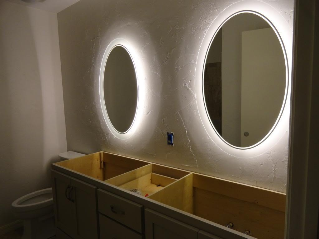 Bathroom Mirrors With Lights Around | Home Furniture Intended For Light Up Bathroom Mirrors (Image 13 of 20)
