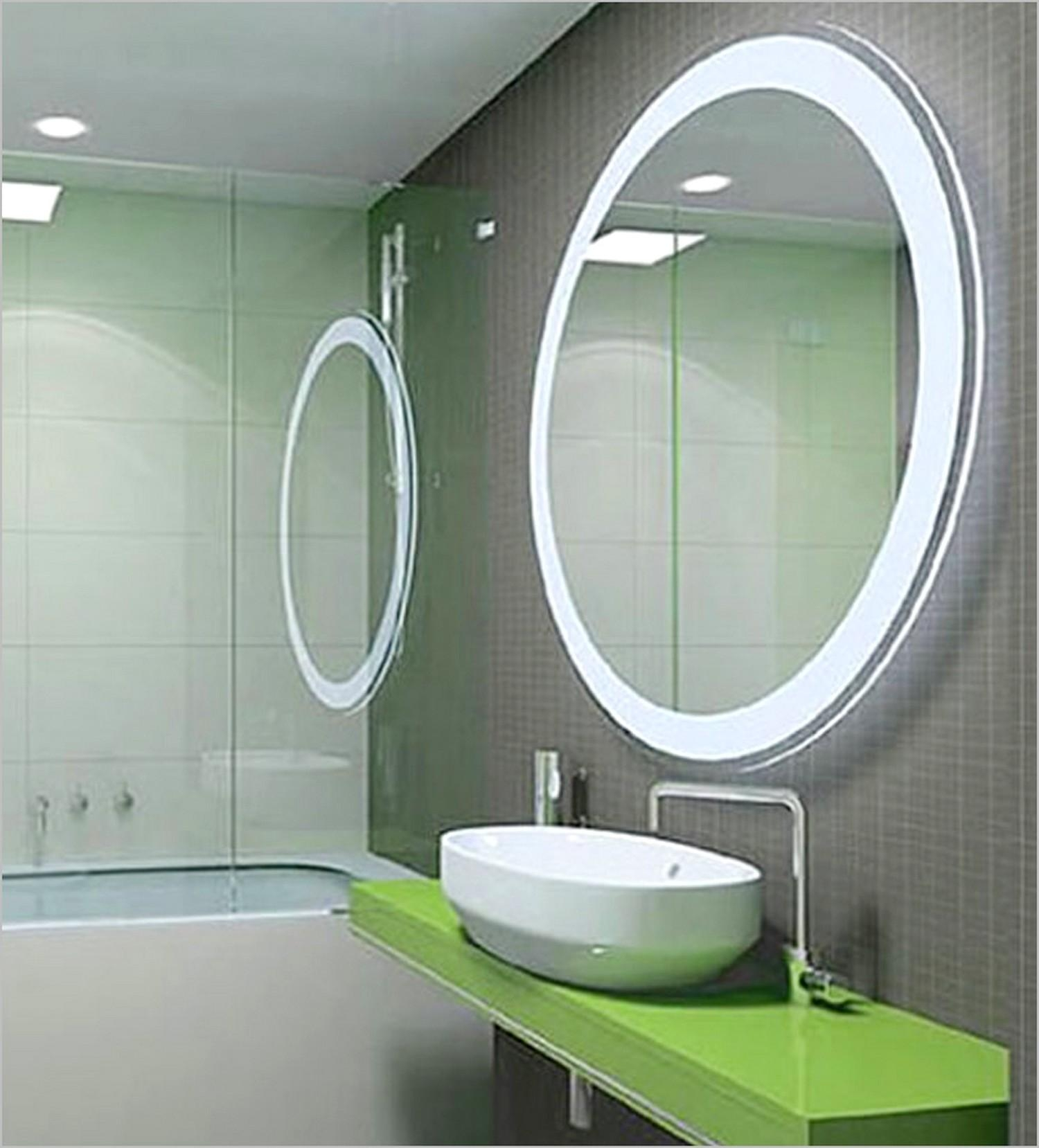 Bathroom: Oval Wall Mirror With Led Light For Bathroom Wall Mirror For Bathroom Wall Mirrors With Lights (Photo 3 of 20)