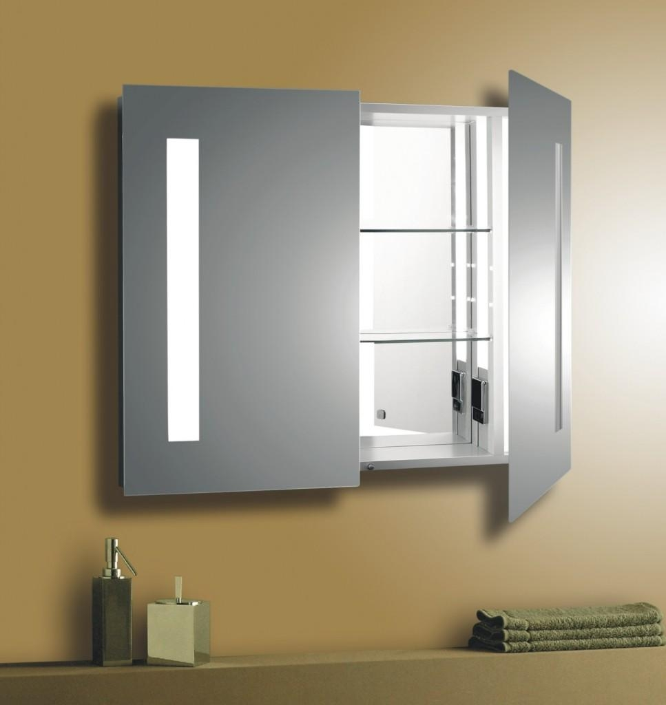 Bathroom: Pottery Barn Recessed Medicine Cabinet | Recessed Intended For Bathroom Medicine Cabinets And Mirrors (Image 8 of 20)