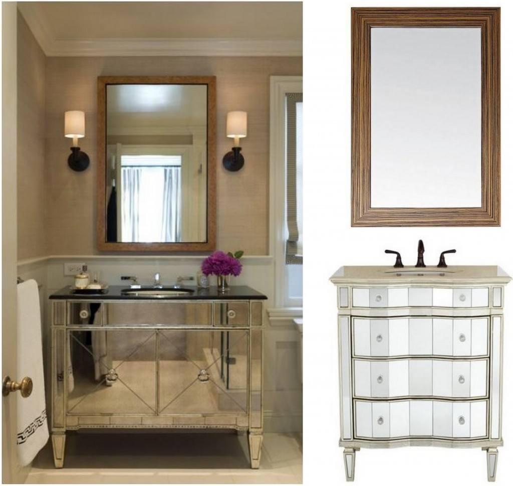 Bathroom: Reimagine Your Bathroom With Bathroom Mirrors Lowes Throughout Custom Bathroom Vanity Mirrors (Image 10 of 20)