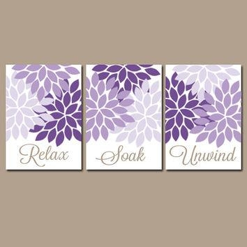 Bathroom Wall Art Canvas Or Prints Purple From Trm Design | Wall Pertaining To Purple Bathroom Wall Art (Image 6 of 20)