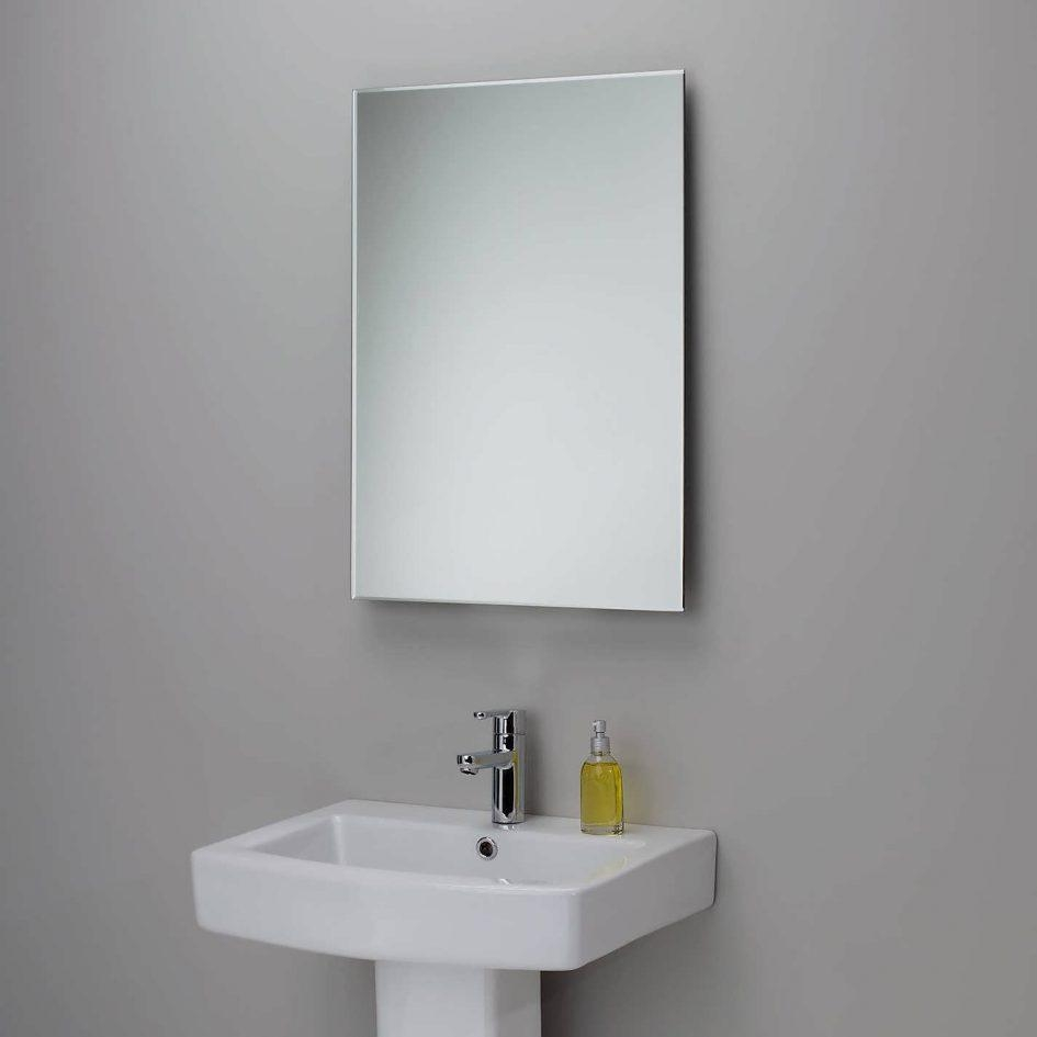 Bathrooms Design : Appealing And Inch Bathroom Vanities White With Modern Framed Mirrors (View 12 of 20)