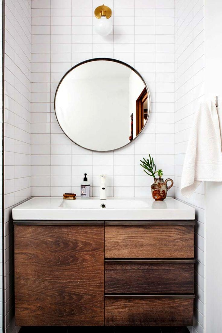 Bathrooms Design : Bathroom Ideas Large Mirror With Shelf Hanging With Regard To Extra Wide Bathroom Mirrors (Image 8 of 20)