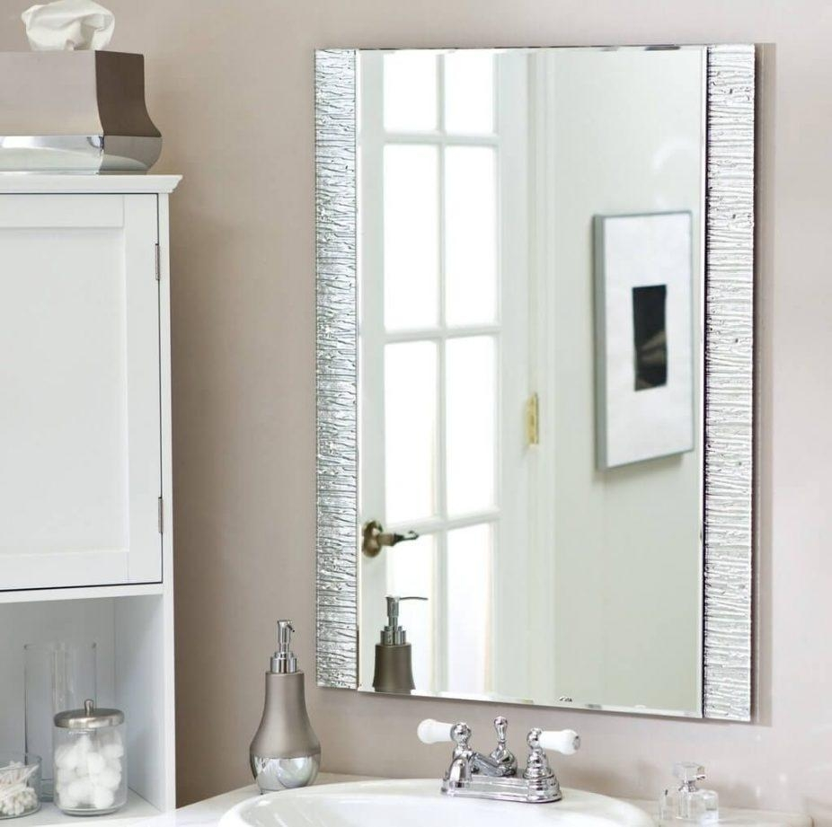 Bathrooms Design : Bathroom Mirror Shelf Hib Delby Modern Mirrors In Modern Mirrors For Bathrooms (Image 10 of 20)