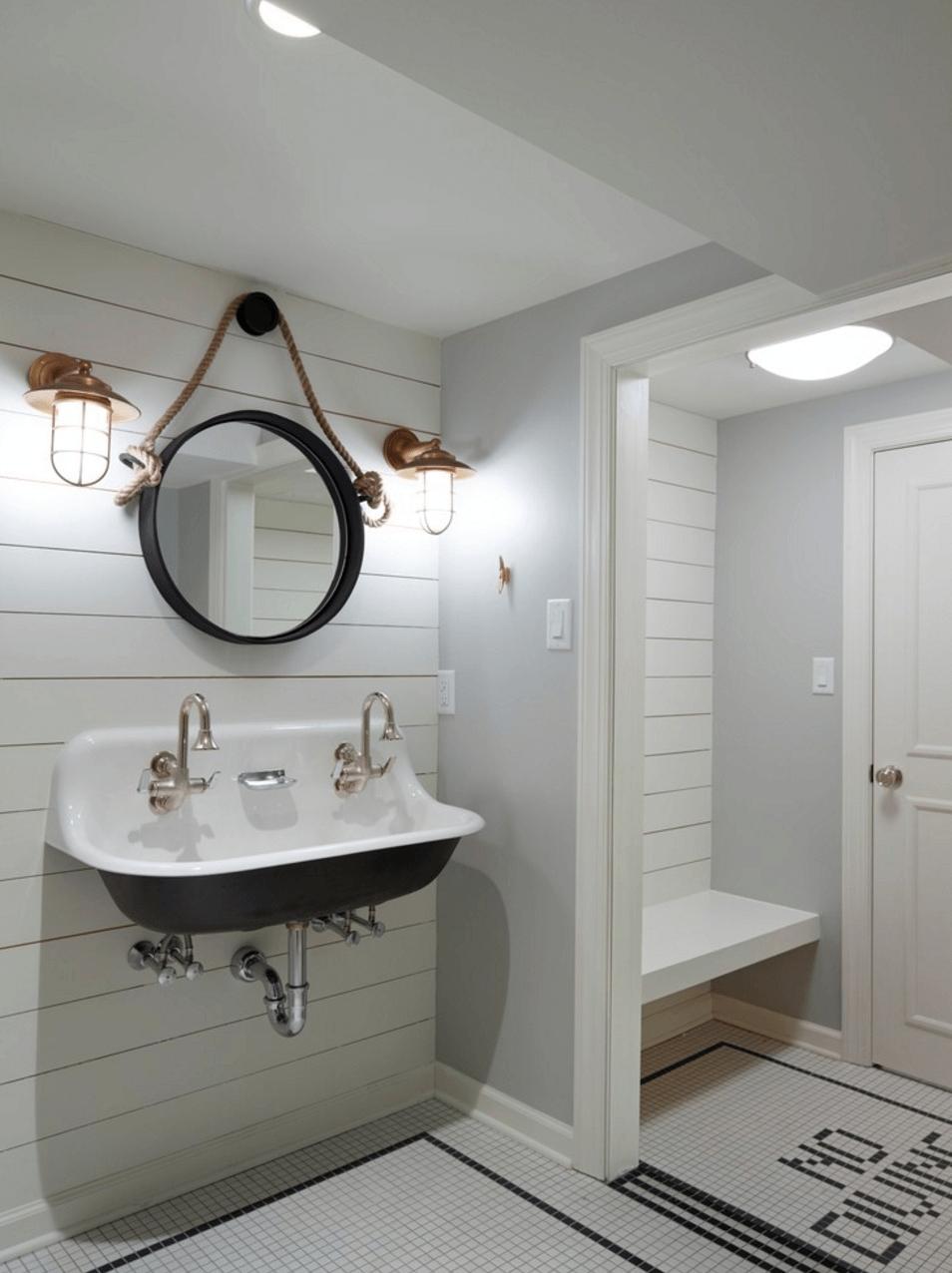 Bathrooms Design : Bathroom Wall Mirrors Black Bathroom Mirror For Bathroom Wall Mirrors With Lights (Photo 12 of 20)
