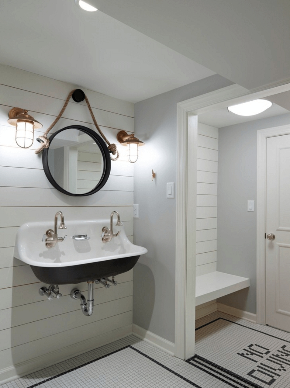 Bathrooms Design : Bathroom Wall Mirrors Black Bathroom Mirror For Large Framed Bathroom Wall Mirrors (Image 16 of 20)