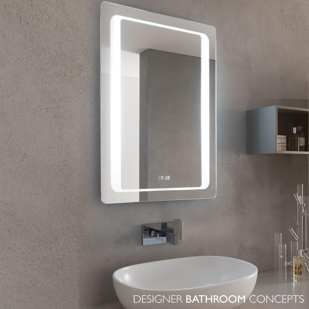 Bathrooms Design : Beautiful Bathroom Mirrors Above Vanity On With With Regard To Led Illuminated Bathroom Mirrors (Image 11 of 20)