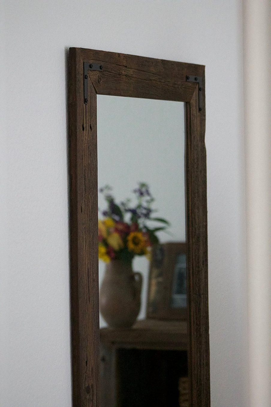 Bathrooms Design : Cool Recycled Wood Framed Mirrors Reclaimed With Natural Wood Framed Mirrors (Image 5 of 20)