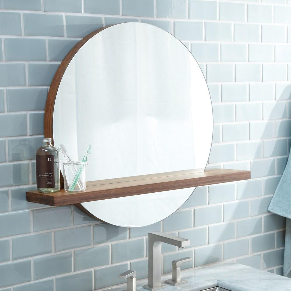 Bathrooms Design : Frameless Bathroom Mirror Frameless Wall Mirror Inside Round Mirrors For Bathroom (Image 9 of 20)