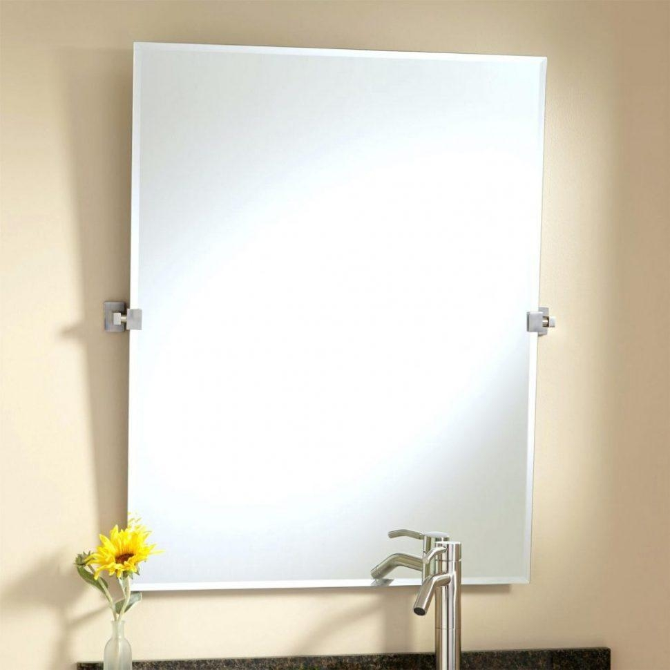 Bathrooms Design : Helsinki Rectangular Tilting Mirrorframeless Throughout No Frame Wall Mirrors (Image 2 of 20)
