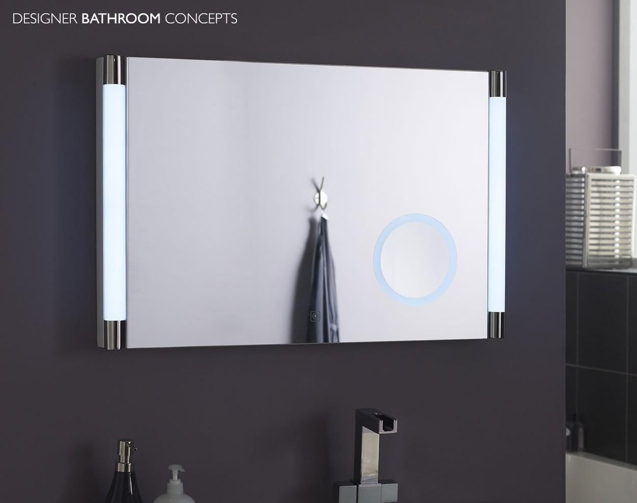Bathrooms Design : Illuminated Mirrors Heated Bathroom Mirror Within Bathroom Mirrors With Led Lights (Image 15 of 20)