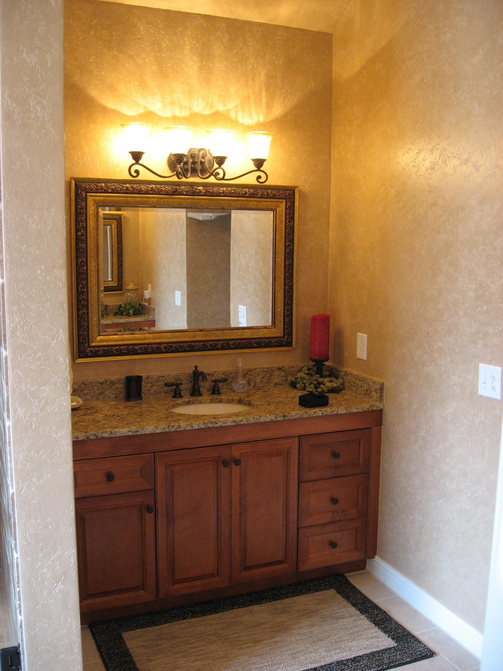 Bathrooms Design : Inch Bathroom Light Fixture Brushed Nickel Regarding Bathroom Lighting And Mirrors (Image 15 of 20)