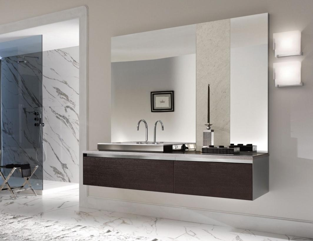 Bathrooms Design : Large Bathroom Mirror Frameless Inspirations Throughout Tall Bathroom Mirrors (View 12 of 20)