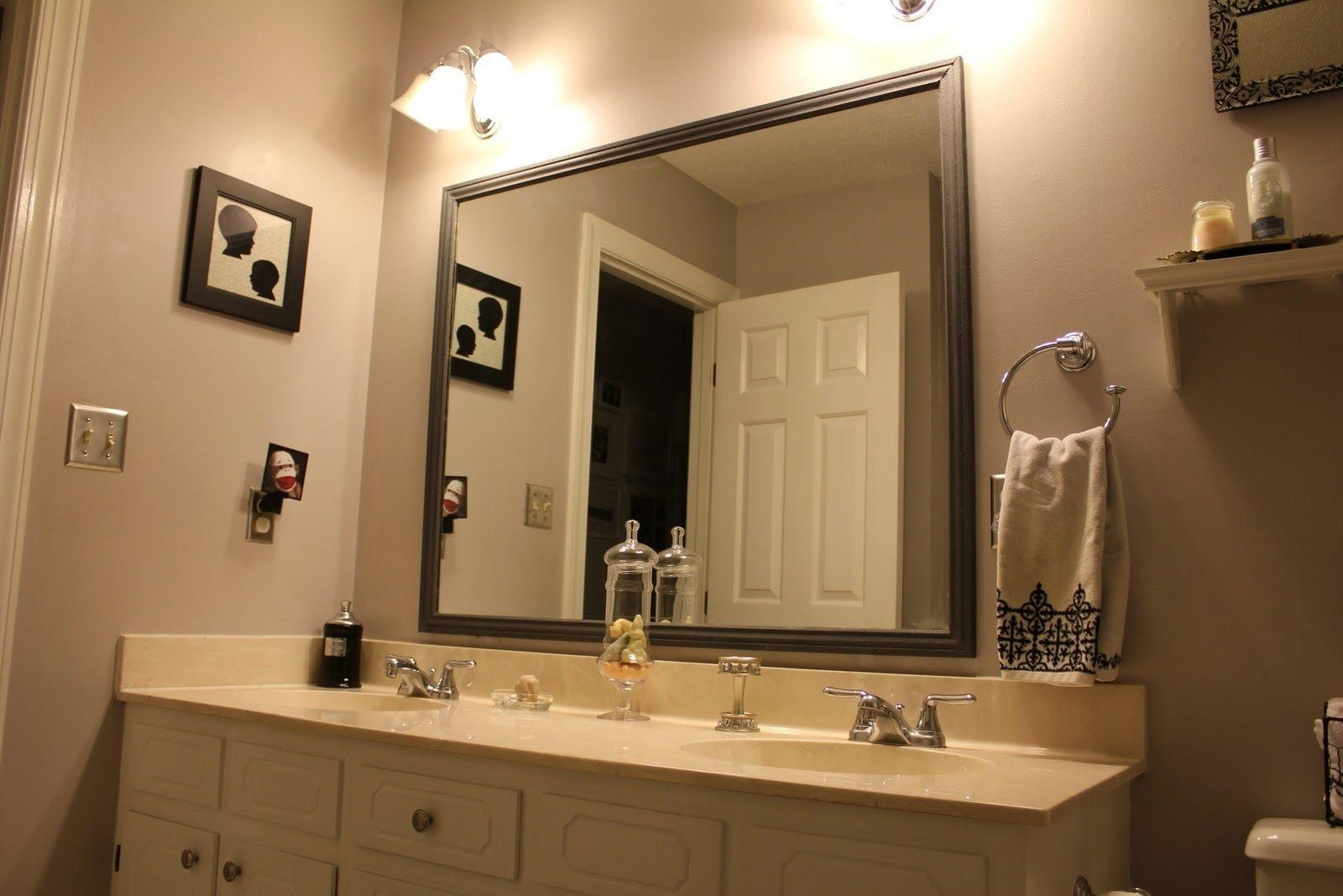 Bathrooms Design : Large Framed Bathroom Mirrors Oval Mirror Inside Frameless Beveled Bathroom Mirrors (Image 7 of 20)