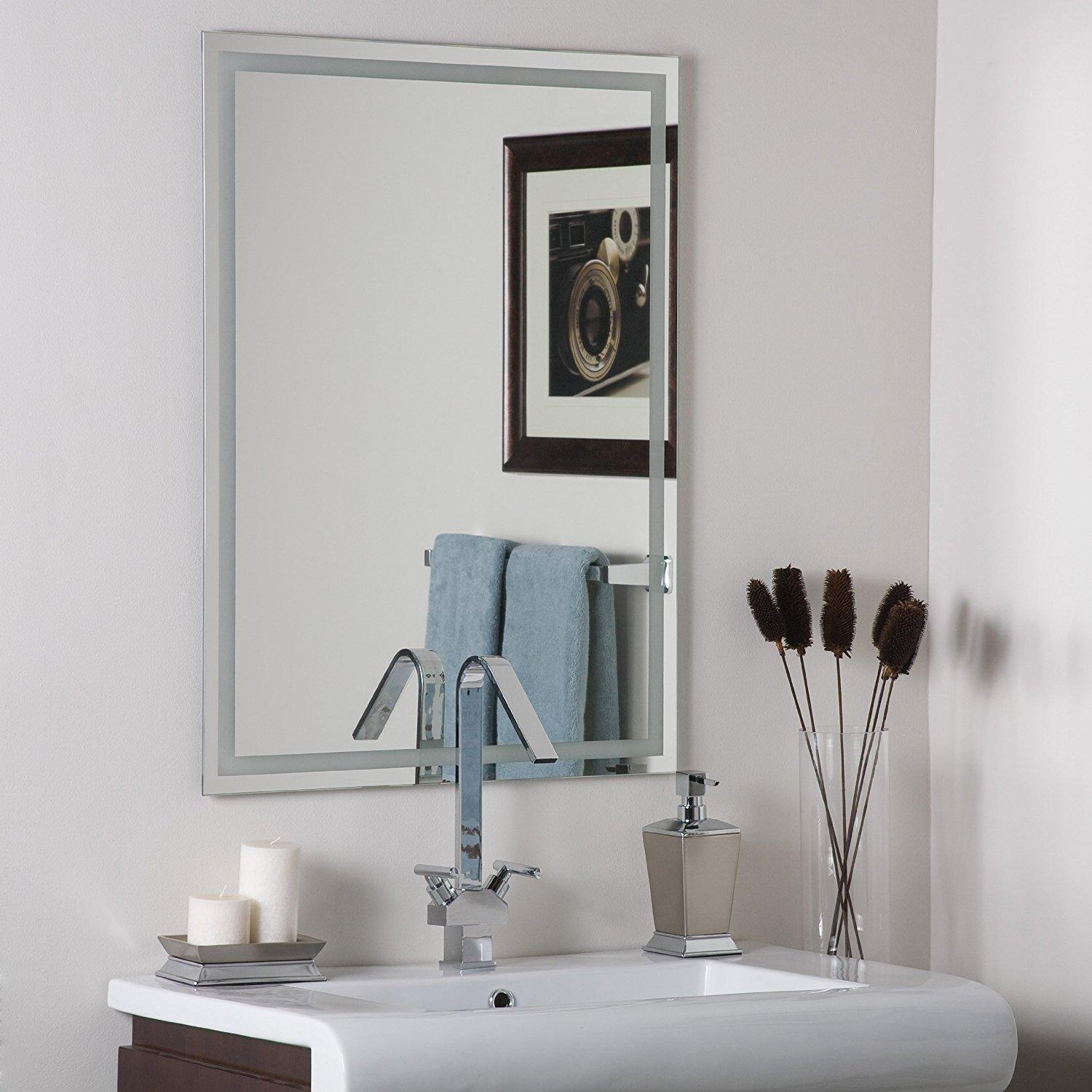 Frame Your Bathroom Mirror: 20 Ideas Of No Frame Wall Mirrors