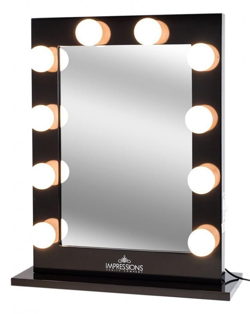 Bathrooms Design : Mirror With Built In Lights Backlit Vanity With Regard To Lit Makeup Mirrors (Image 8 of 20)