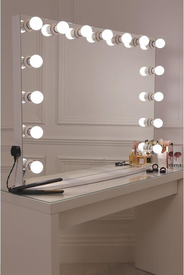 Bathrooms Design : Mirror With Built In Lights Backlit Vanity With Regard To Vanity Mirrors With Built In Lights (Image 5 of 20)
