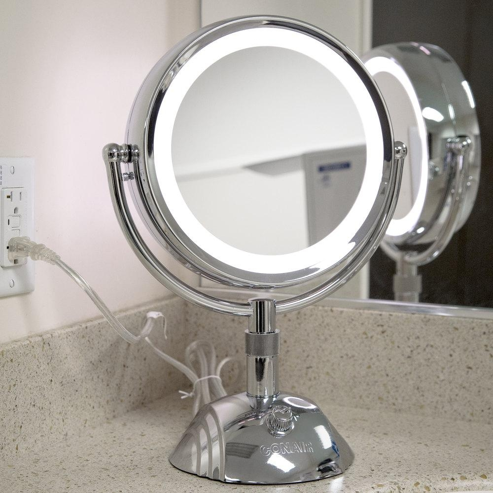 Bathrooms Design : Mirror With Built In Lights Bathroom Mirror Intended For Vanity Mirrors With Built In Lights (Image 6 of 20)