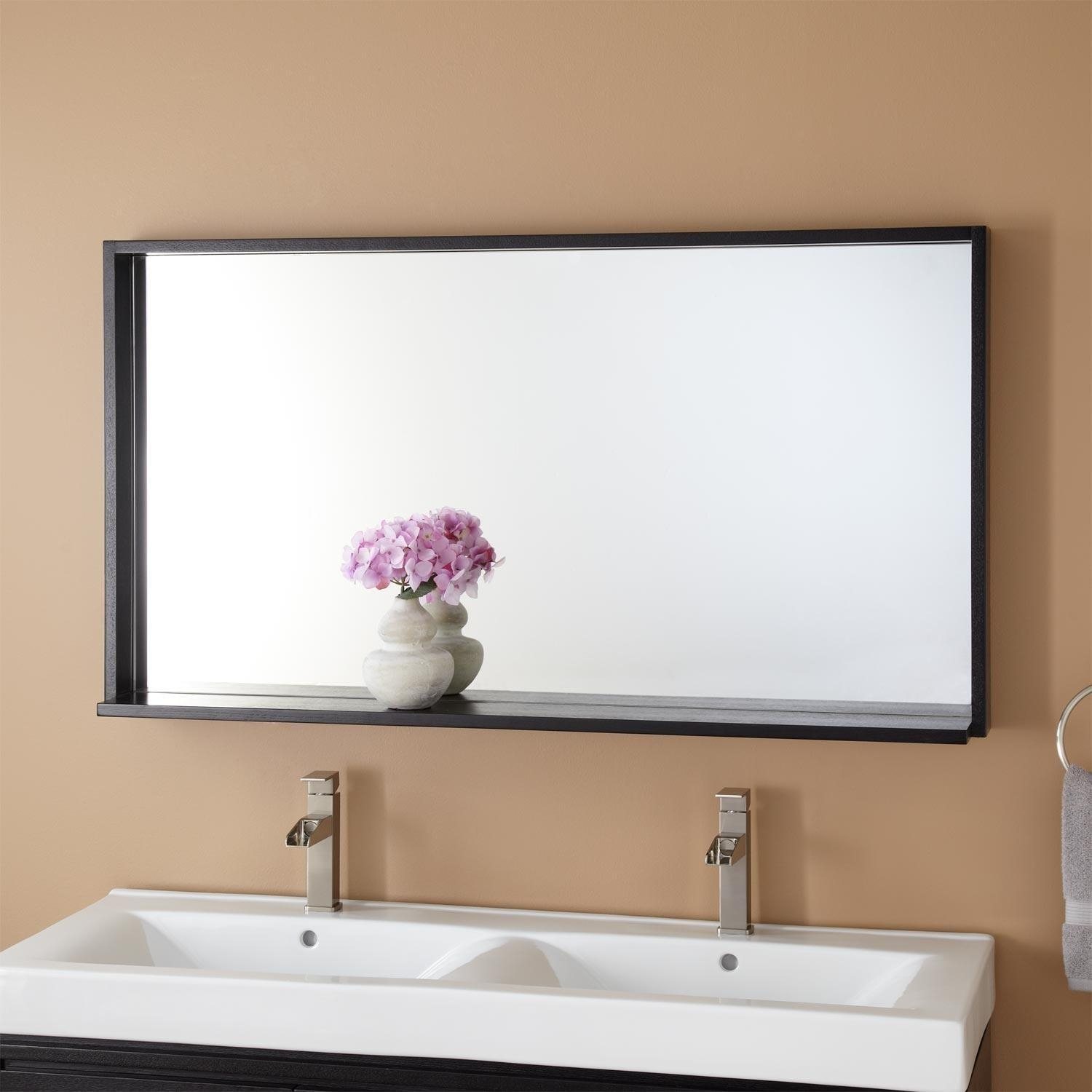 Bathrooms Design : Oval Bathroom Mirror Wall Mirrors Brushed Within Extra Wide Bathroom Mirrors (Image 12 of 20)