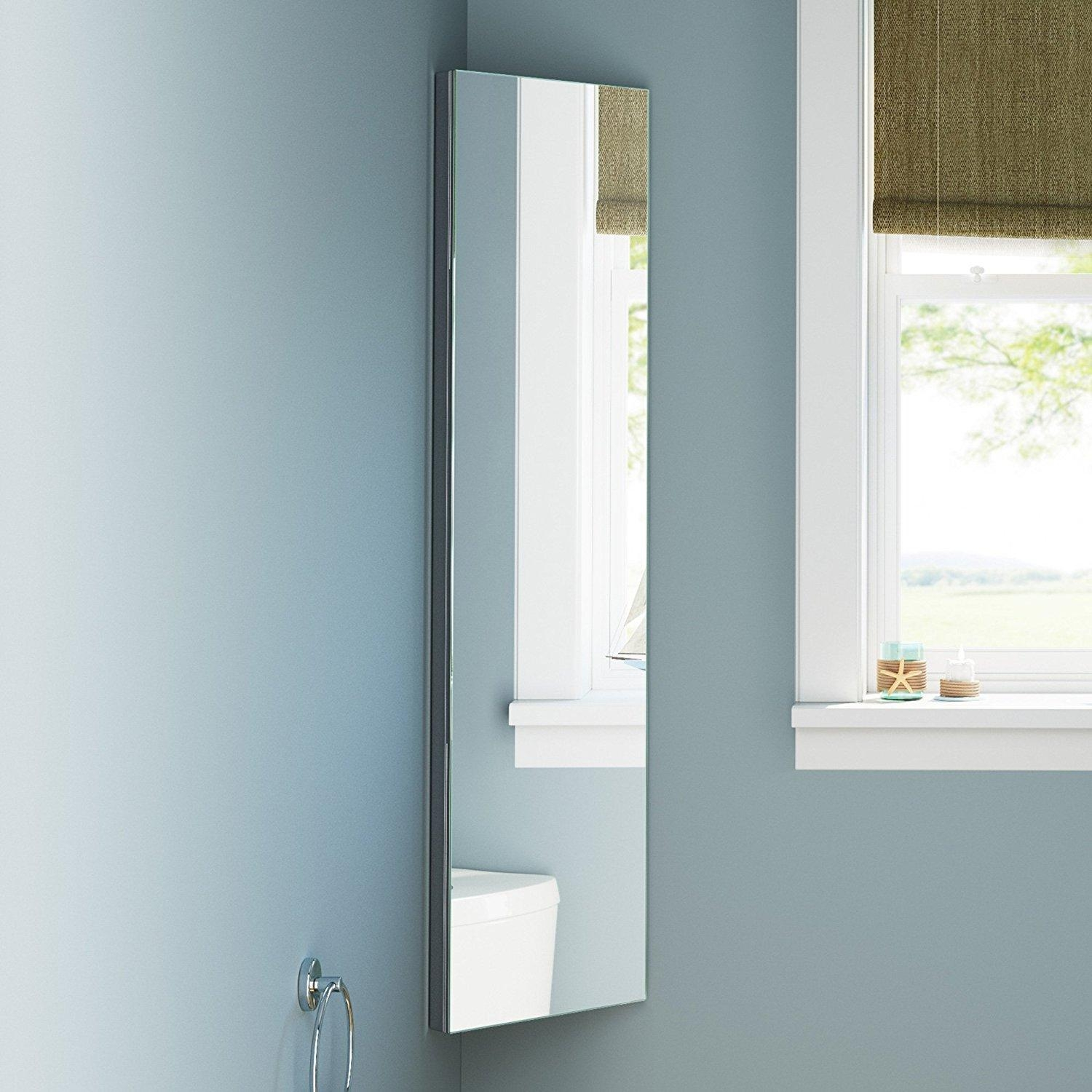 Bathrooms Design : Recessed Mirror Cabinet Slim Bathroom Cabinet Throughout Bathroom Cabinets Mirrors (Image 12 of 20)