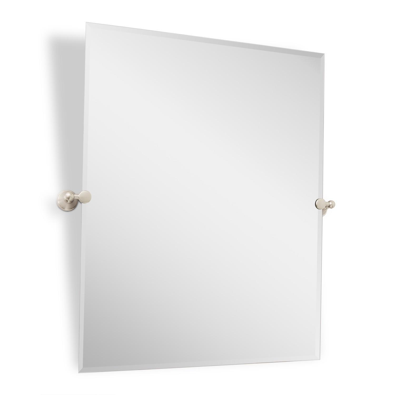 Bathrooms Design : Rectangular Tilting Mirror Brushed Nickel Throughout Seattle Custom Mirrors (Image 7 of 20)