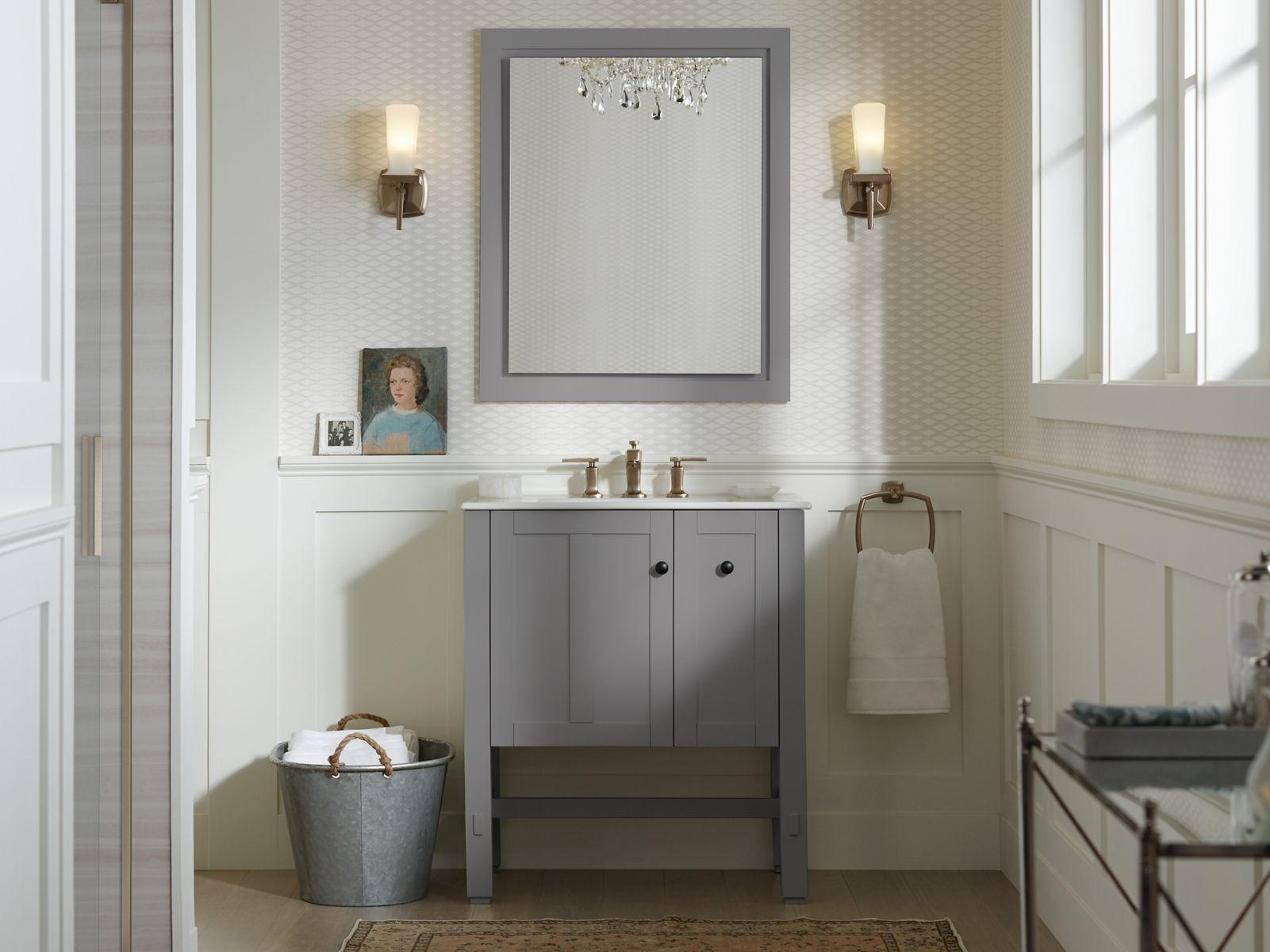Bathrooms Design : Top Kohler Bathroom Mirrors Home Design Popular With Regard To Extra Wide Bathroom Mirrors (Image 14 of 20)