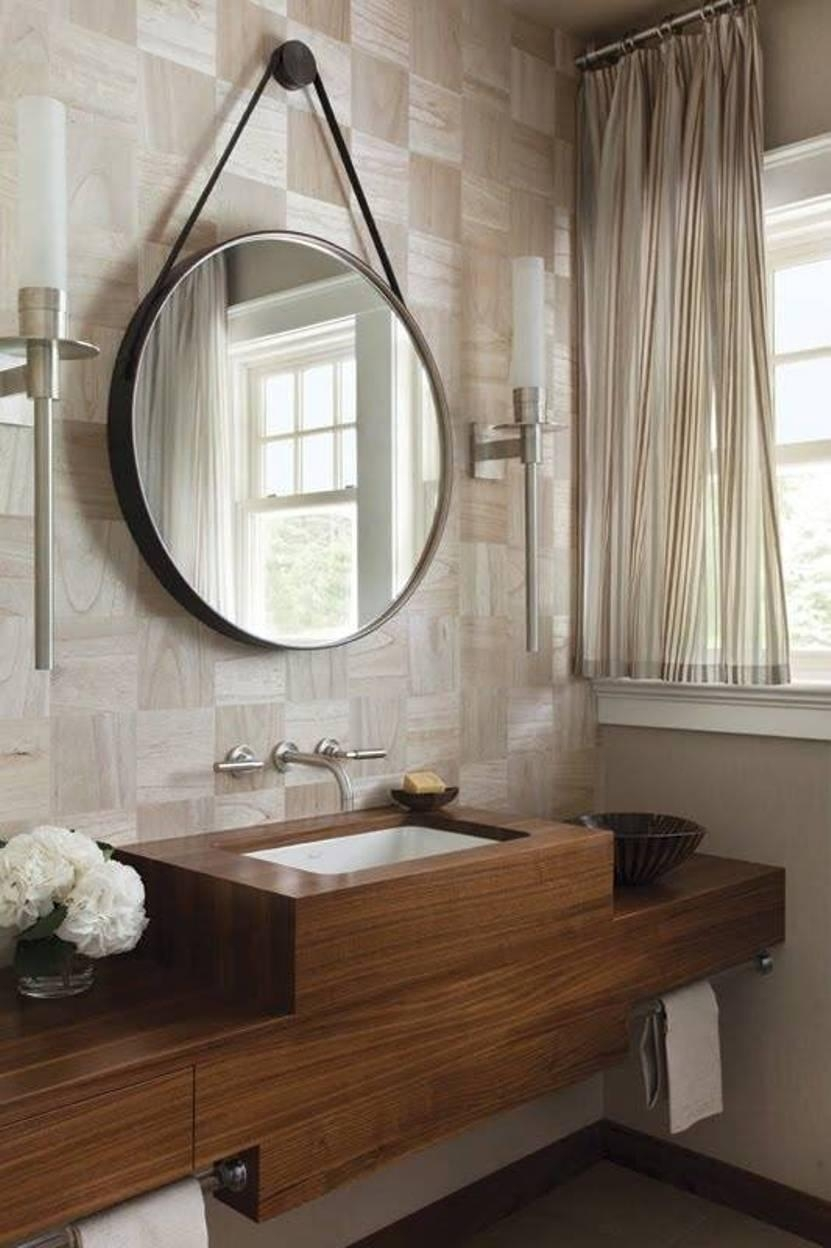 Bathrooms Design : Unique Bathroom Mirrors Frameless Bathroom Within Round Mirrors For Bathroom (Image 11 of 20)