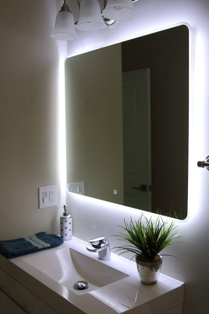Bathrooms Design : Vanity Mirror With Light Bulbs Mirror With With Regard To Led Illuminated Bathroom Mirrors (Image 13 of 20)