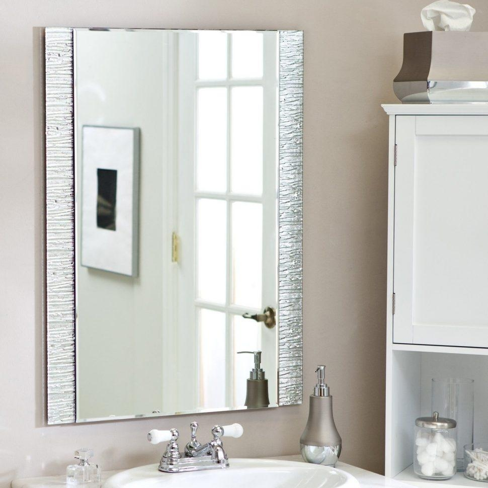 Bathrooms Design : Wall Mirror With Lights Bathroom Cabinet For Long Rectangular Mirrors (Image 5 of 20)